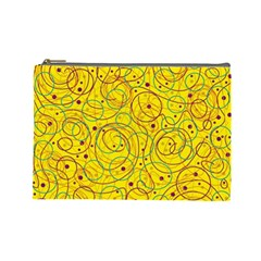 Yellow abstract art Cosmetic Bag (Large)