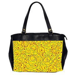 Yellow abstract art Office Handbags (2 Sides)