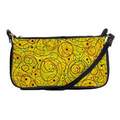 Yellow abstract art Shoulder Clutch Bags
