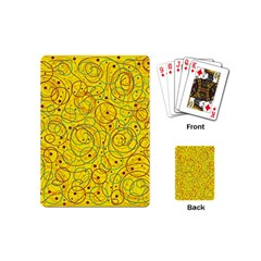 Yellow abstract art Playing Cards (Mini)
