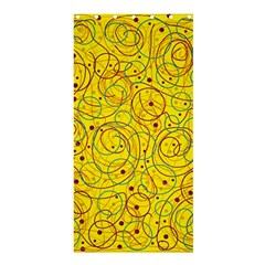 Yellow abstract art Shower Curtain 36  x 72  (Stall)