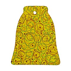 Yellow abstract art Bell Ornament (2 Sides)