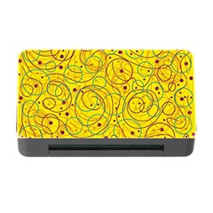 Yellow abstract art Memory Card Reader with CF