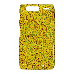 Yellow abstract art Motorola Droid Razr XT912