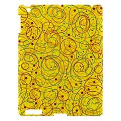 Yellow abstract art Apple iPad 3/4 Hardshell Case