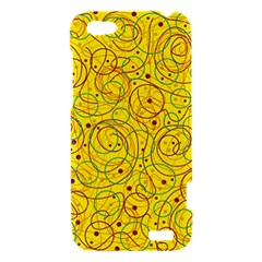Yellow abstract art HTC One V Hardshell Case