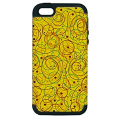 Yellow abstract art Apple iPhone 5 Hardshell Case (PC+Silicone)
