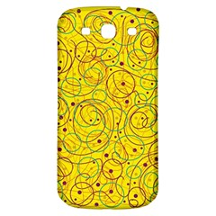 Yellow abstract art Samsung Galaxy S3 S III Classic Hardshell Back Case