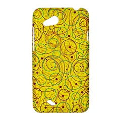 Yellow abstract art HTC Desire VC (T328D) Hardshell Case