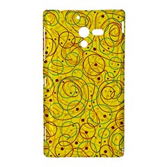 Yellow abstract art Sony Xperia ZL (L35H)