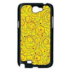 Yellow abstract art Samsung Galaxy Note 2 Case (Black)