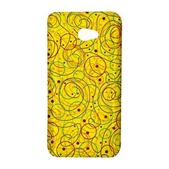 Yellow abstract art HTC Butterfly S/HTC 9060 Hardshell Case