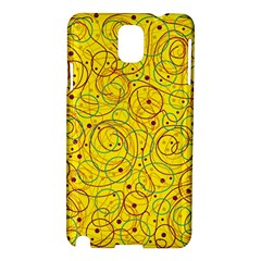 Yellow abstract art Samsung Galaxy Note 3 N9005 Hardshell Case