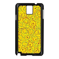 Yellow abstract art Samsung Galaxy Note 3 N9005 Case (Black)