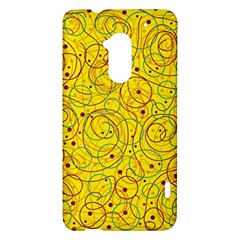 Yellow abstract art HTC One Max (T6) Hardshell Case