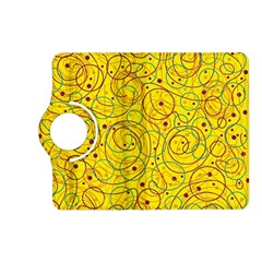 Yellow abstract art Kindle Fire HD (2013) Flip 360 Case