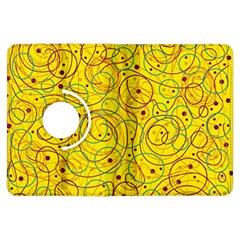 Yellow abstract art Kindle Fire HDX Flip 360 Case