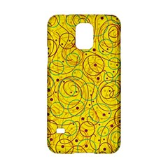 Yellow abstract art Samsung Galaxy S5 Hardshell Case