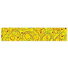 Yellow abstract art Flano Scarf (Small)