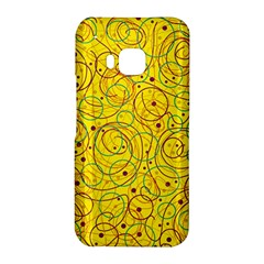 Yellow abstract art HTC One M9 Hardshell Case