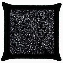Black and white magic Throw Pillow Case (Black)