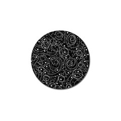 Black and white magic Golf Ball Marker (4 pack)