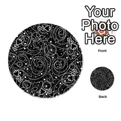 Black and white magic Playing Cards 54 (Round)