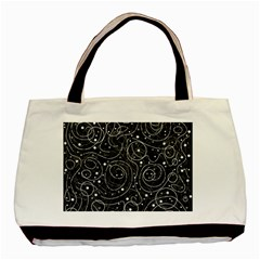 Black and white magic Basic Tote Bag (Two Sides)