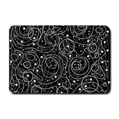 Black and white magic Small Doormat