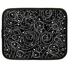 Black and white magic Netbook Case (Large)