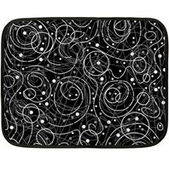 Black and white magic Fleece Blanket (Mini)