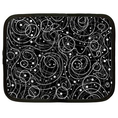 Black and white magic Netbook Case (XL)
