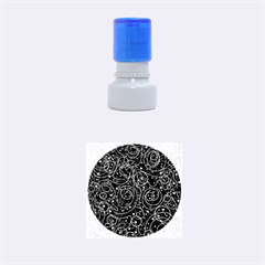 Black and white magic Rubber Round Stamps (Small)