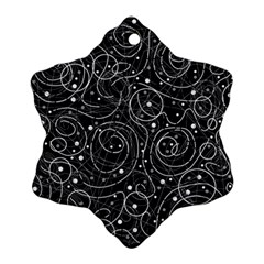 Black and white magic Snowflake Ornament (2-Side)