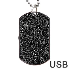 Black and white magic Dog Tag USB Flash (One Side)