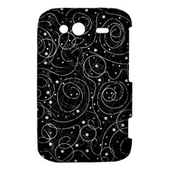 Black and white magic HTC Wildfire S A510e Hardshell Case
