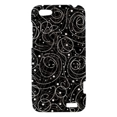 Black and white magic HTC One V Hardshell Case