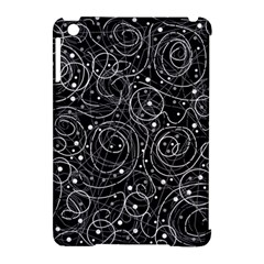 Black and white magic Apple iPad Mini Hardshell Case (Compatible with Smart Cover)