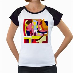 Colorful abstraction Women s Cap Sleeve T