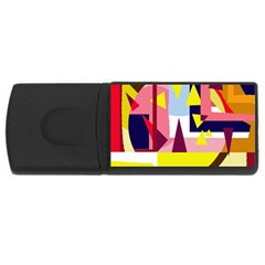 Colorful abstraction USB Flash Drive Rectangular (2 GB)