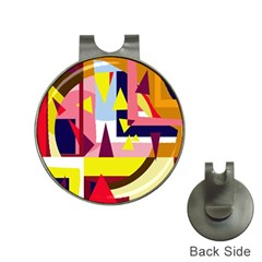 Colorful abstraction Hat Clips with Golf Markers