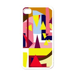 Colorful abstraction Apple iPhone 4 Case (White)