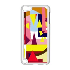 Colorful abstraction Apple iPod Touch 5 Case (White)