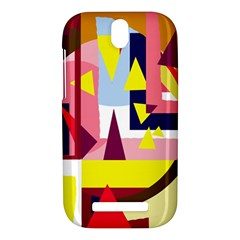 Colorful abstraction HTC One SV Hardshell Case