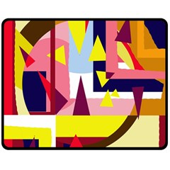 Colorful abstraction Double Sided Fleece Blanket (Medium)