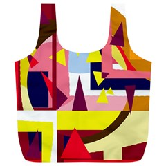 Colorful abstraction Full Print Recycle Bags (L)