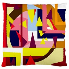 Colorful abstraction Standard Flano Cushion Case (Two Sides)