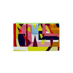 Colorful abstraction Cosmetic Bag (XS)