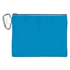 Pacific Blue Colour Canvas Cosmetic Bag (XXL)