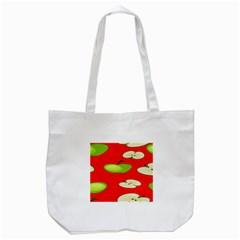 Apple Fruit Pattern Tote Bag (White)